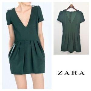 c999bf33c0d Zara Pants - Zara Trafaluc Green Playsuit Dress Romper size XS